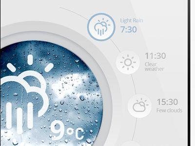 Dribbble - Weather App (washing machine) by Kreativa Studio