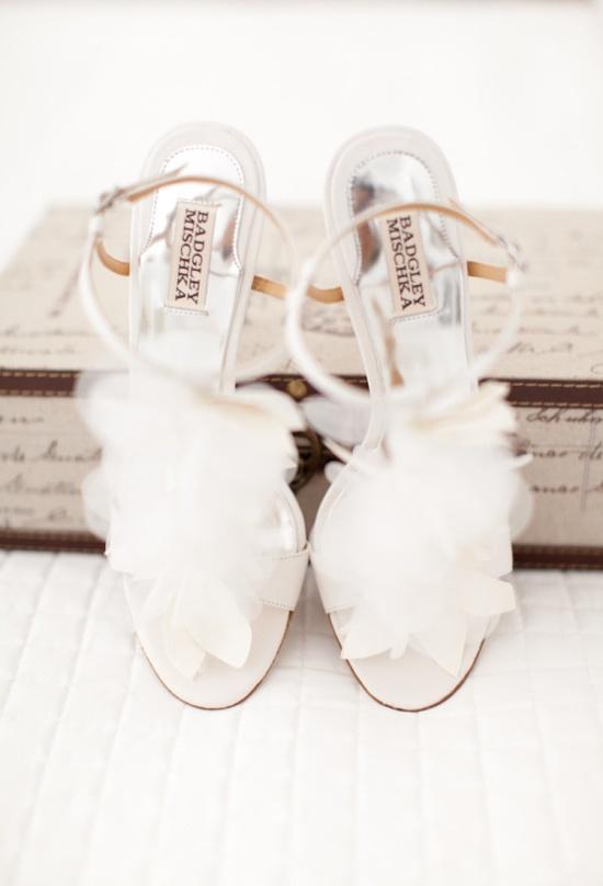 petaled Bridal shoes by Badgley Mischka   Photography by marinkristine.com