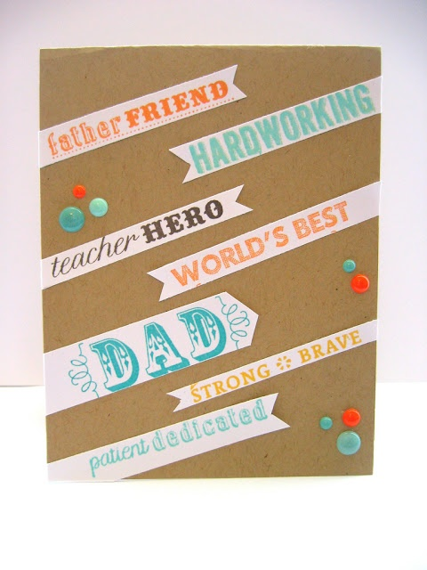 Fabulous Father's Day card from TE Fan Anita Rex of Crafty Girl Designs: Featuring Graphic Banner Dad Card! #Cardmaking, #FathersDay