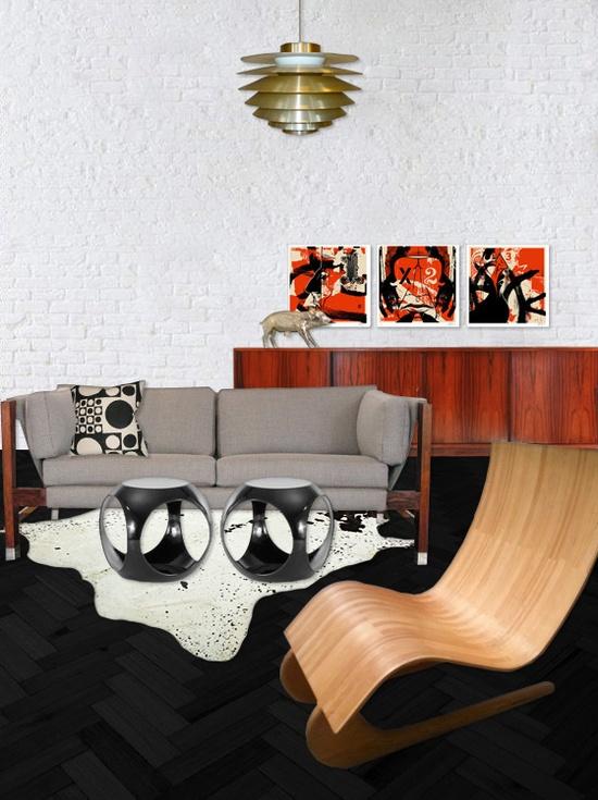 modern interior design mid century dansih