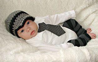 Baby boy tie one piece bodysuit leg warmer and by mmhandmades, $34.95