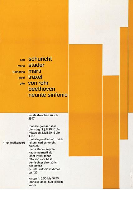 josef müller–brockmann, juni festkonzert, 1957