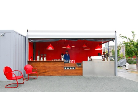 Ritual Roasters shipping container conversion.