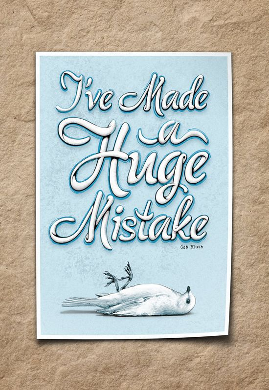 """I've made a huge mistake"" - #type #typography"