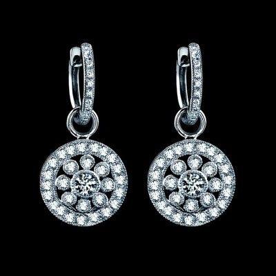 18k diamond earrings from Beverley K