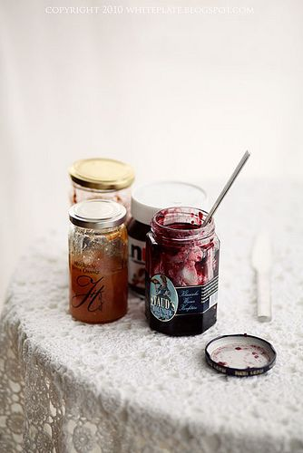 Jam and nutella