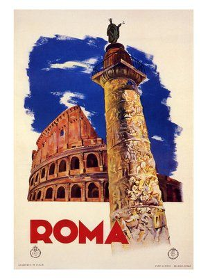 roma-rome-italian-travel-poster-1935 by nostalgicphotosandprints, via Flickr