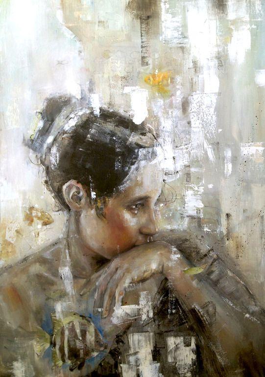 """Benjamin Garcia; Oil, Painting """"Veronica 3"""" (via Saatchi Online Artist)  woman portrait"""