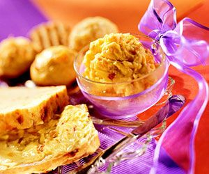 This sweet fruit butter goes great with muffins or tea breads.