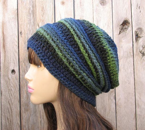 Crochet Slouchy Hat Patterns For Beginners : Crochet Hat - Slouchy Hat, Crochet Pattern PDF,Easy, Great ...