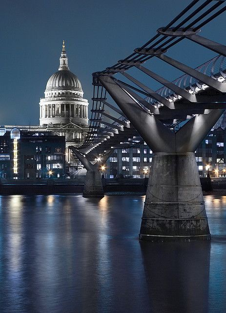 Millennium Bridge and St. Paul's, London