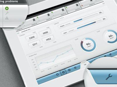 White Dashboard UI