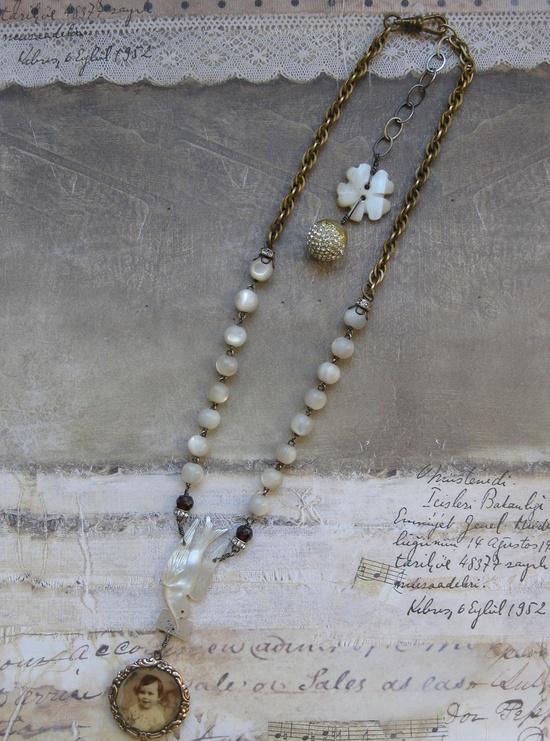 french bebè necklace by BaciRubati on Etsy. $168.00 USD, via Etsy.