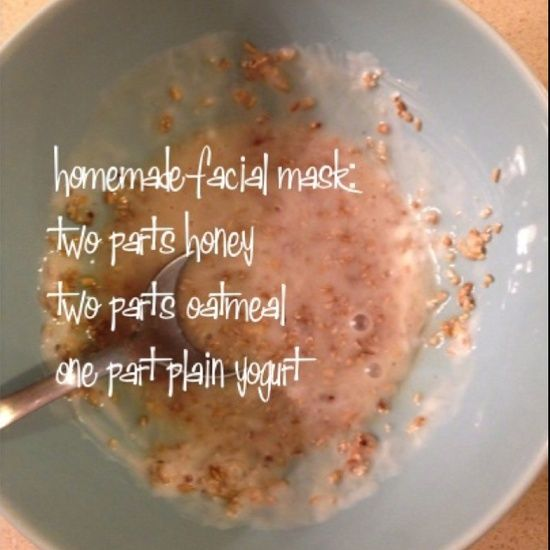 homemade facial mask! Using it right now,