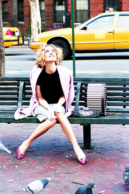 Carrie Bradshaw in her favorite New York City // Sex and the City