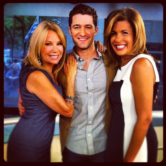 Kathie Lee Gifford and Hoda Kotb with Matt Morrison from Glee (TODAY)