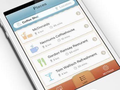 Iphone app UI