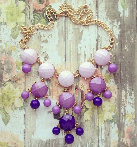 Love that purple necklace!