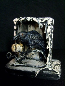 great 3D art piece of a raven