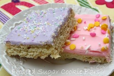 Frosted Cream Cheese Sugar Cookie Bars .