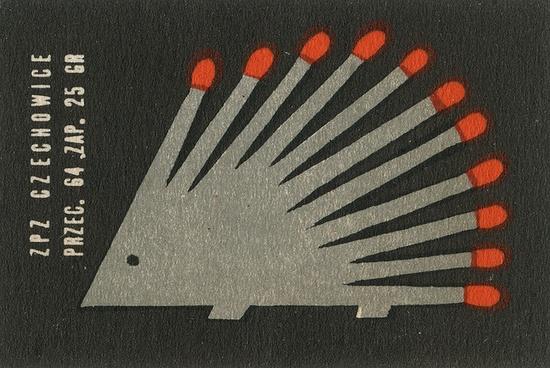 Vintage Polish matchbox label.