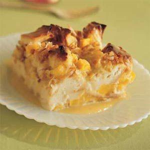 Mango Coconut Bread Pudding