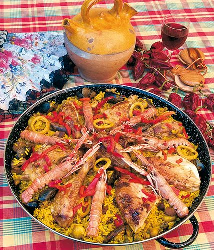 Spain - Paella de marisco (sea food paella)