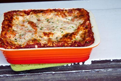 Gooey Three Cheese Lasagna