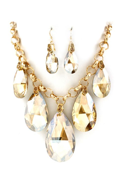Champagne Crystal Dakota Necklace