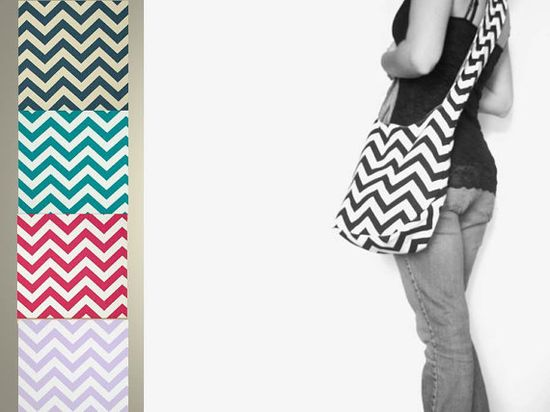 Cross Body Chevron Purse. NEW Girly Colors by SmiLeaGainCreations, $44.00