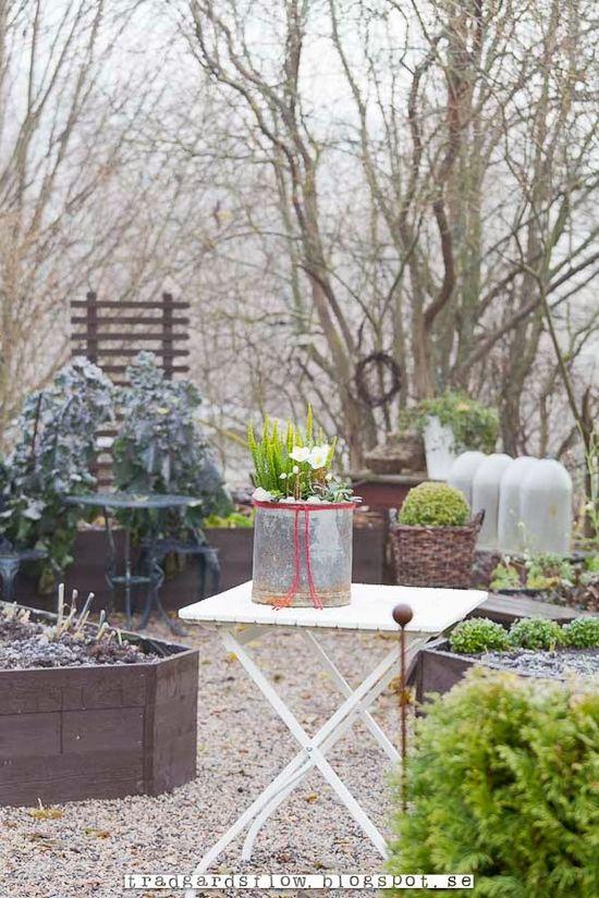 Winter garden decor