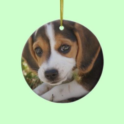 Beagle Baby Dog Christmas Tree Ornament