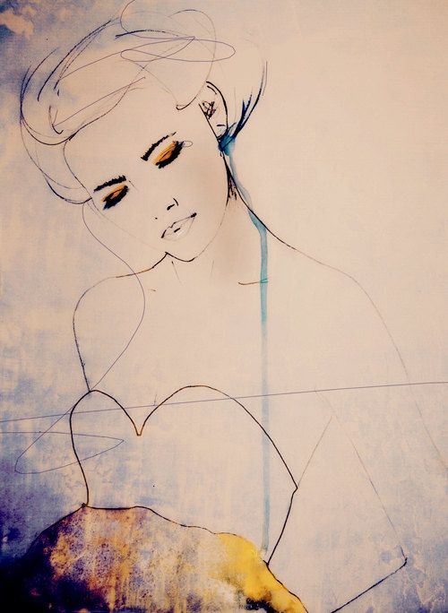 Abstractions Aside - Fashion Illustration Art Print. $28.00, via Etsy.