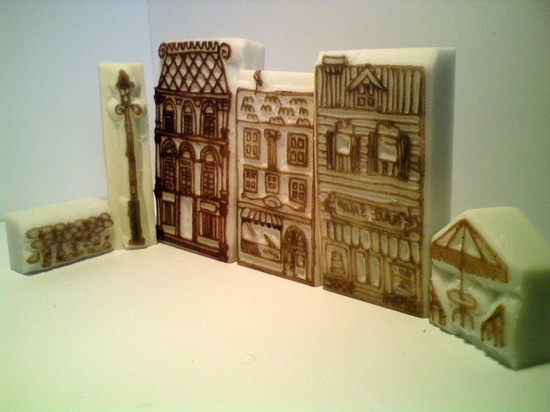 Street Hand Carved Rubber Stamps