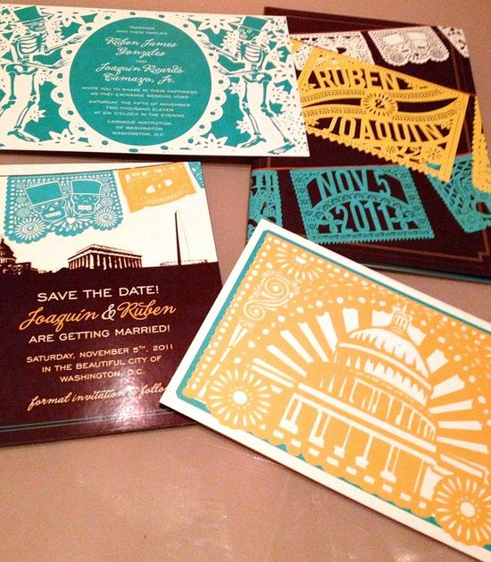 Amazing papel picado invitations