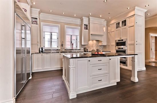 Spacious Kitchen interiors..love the amount of cabinets