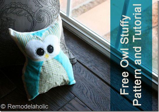 Owl Stuffy Pattern #pattern #sewing #free pattern #toys #kids