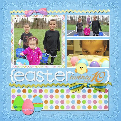 Easter #blue #scrapbook #layout