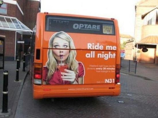 Fun Bus!  Advertising done right, but wrong.