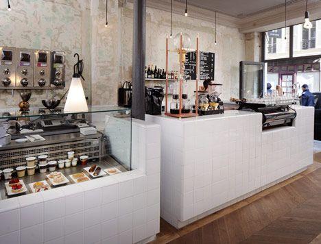 industrial cafe interior