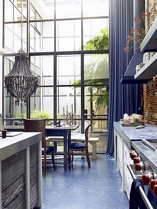massive kitchen windows