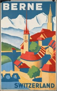 Berne, Switzerland #vintage #travel #poster
