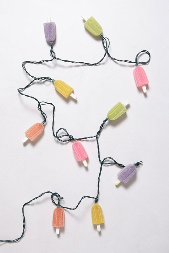 love these Anthropologie popsicle lights {cute for an outdoor patio}
