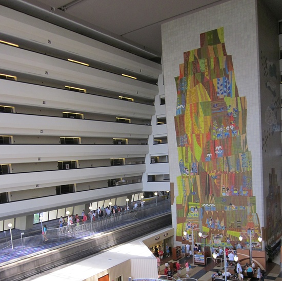 Did you know Disney's Contemporary Resort is home to a mural, complete with a 5-legged goat, that took 18 months to complete?