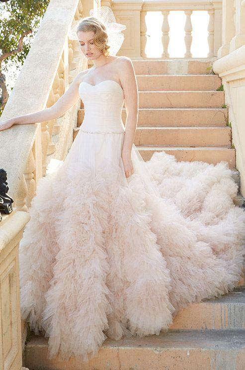 Beautiful plush textured wedding dress. Wtoo, Spring 2014