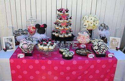 zebra print: Minnie Mouse Birthday Parties
