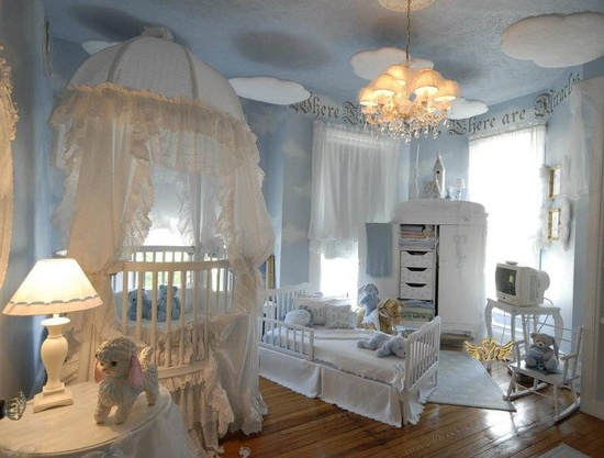 I'm pinning because this is just ridiculous! Why bother? It's a kids room! It'll get destroyed in no time!