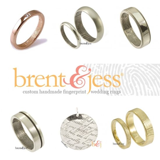 Custom handmade wedding bands