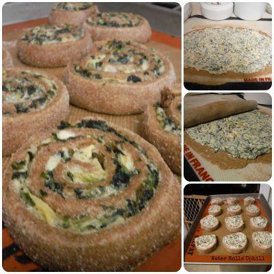 Savory Spinach-Artichoke Pinwheels