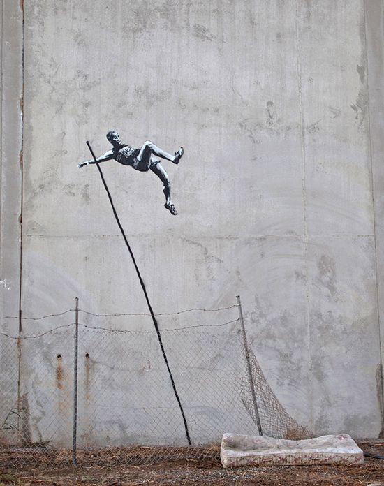 Banksy, Pole Vault Escape